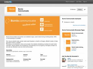 LinkedIn bedrijfspagina Burnio Communicatie