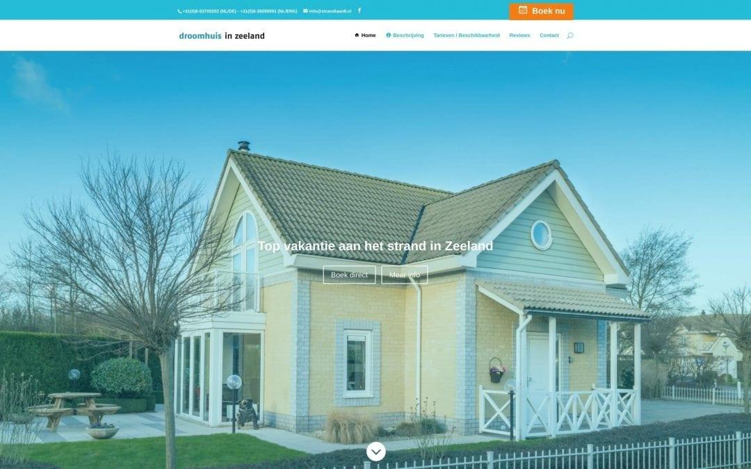 Nieuwe website Droomhuis Zeeland