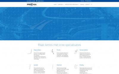 Nieuwe WordPress website voor Priema BV