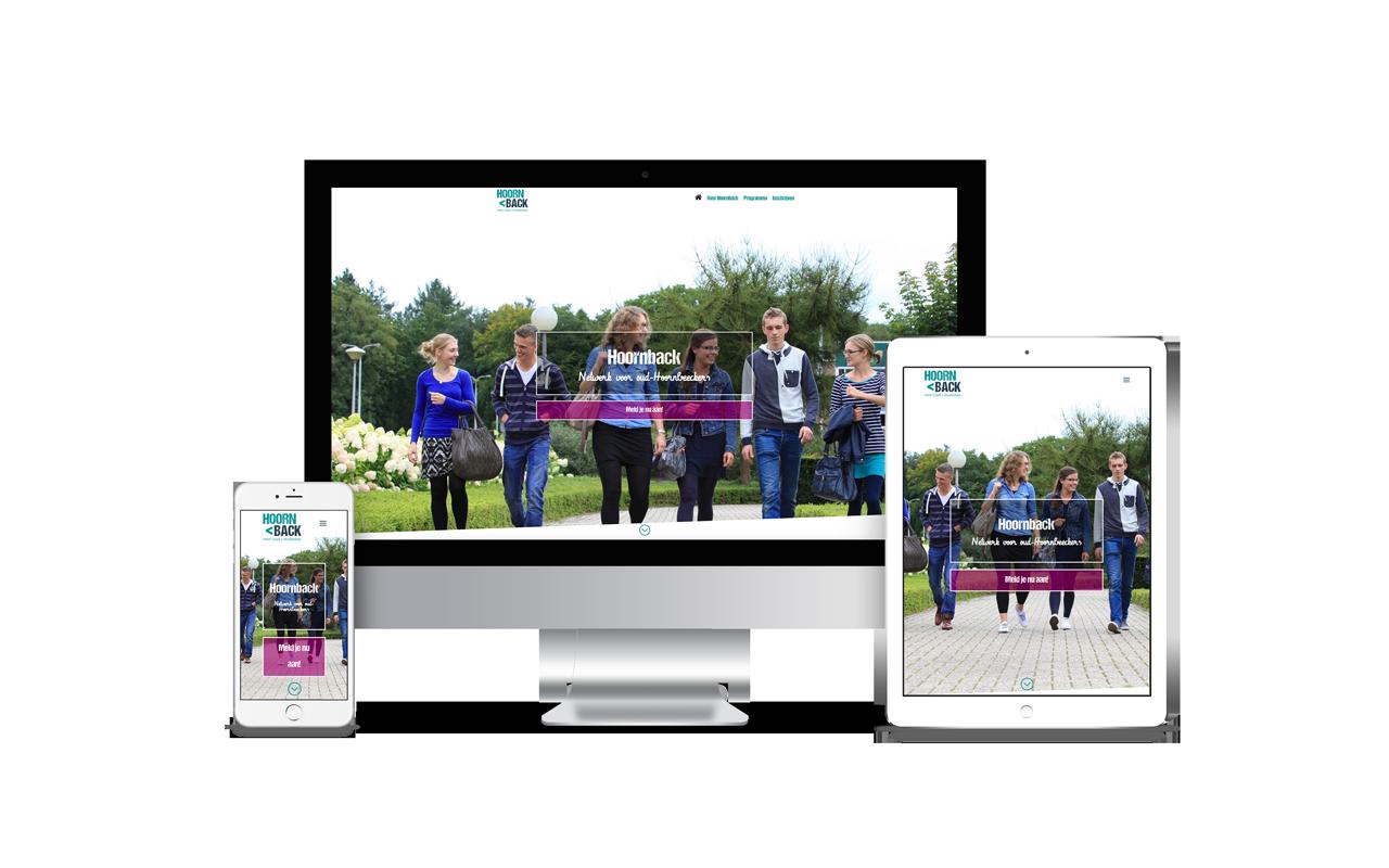 Responsive WordPress website Hoornback