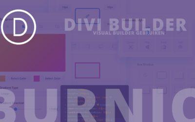 Aan de slag met de Divi Visual Builder