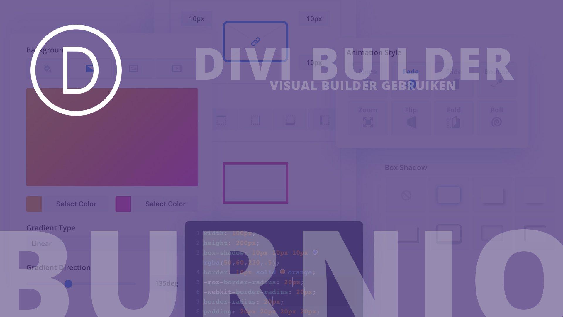 Divi Visual builder gebruiken handleiding