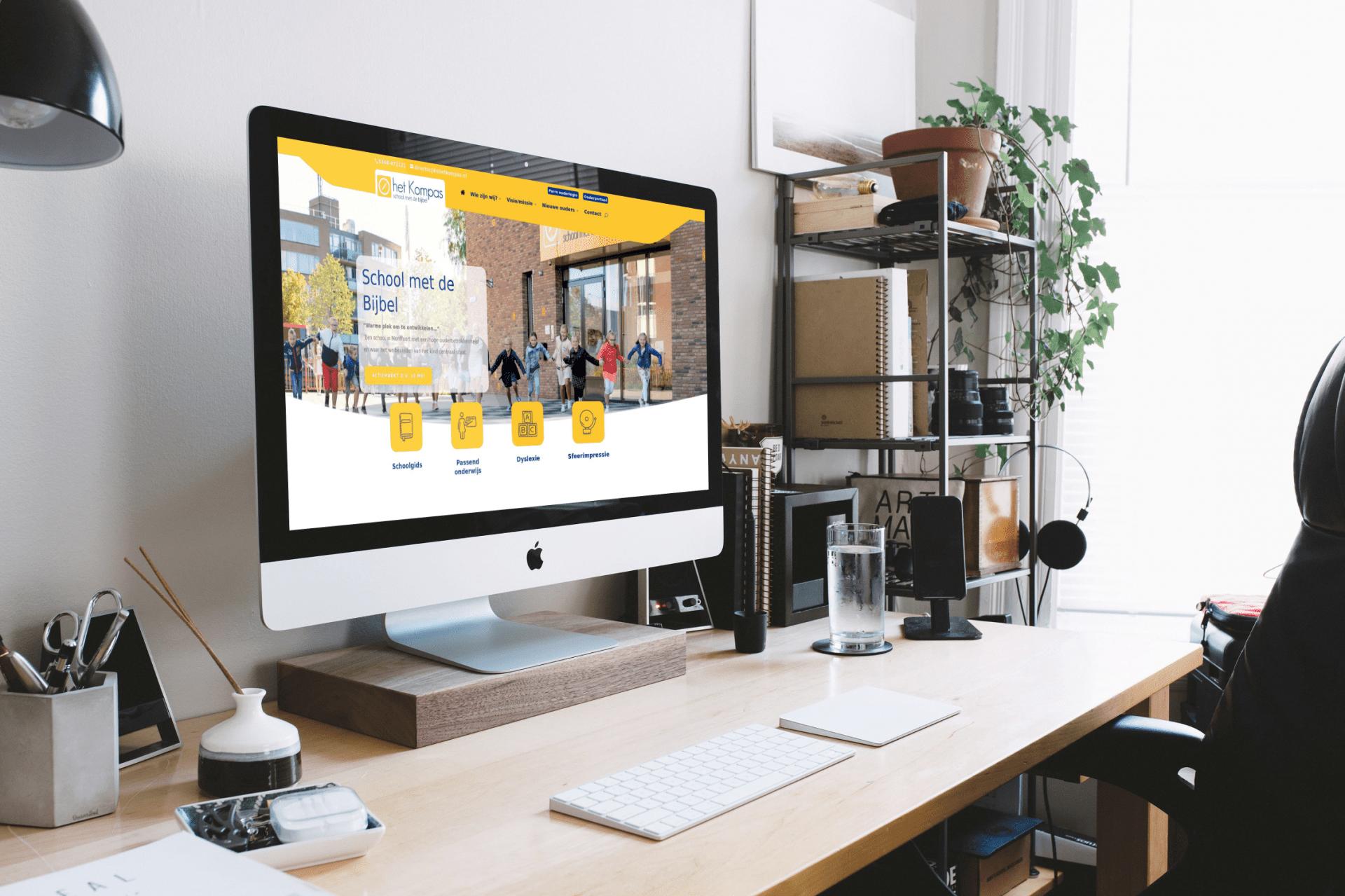 Responsive website basisonderwijs Kompas Montfoort