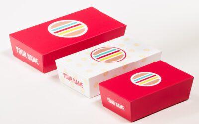 Bedrukte snackboxen