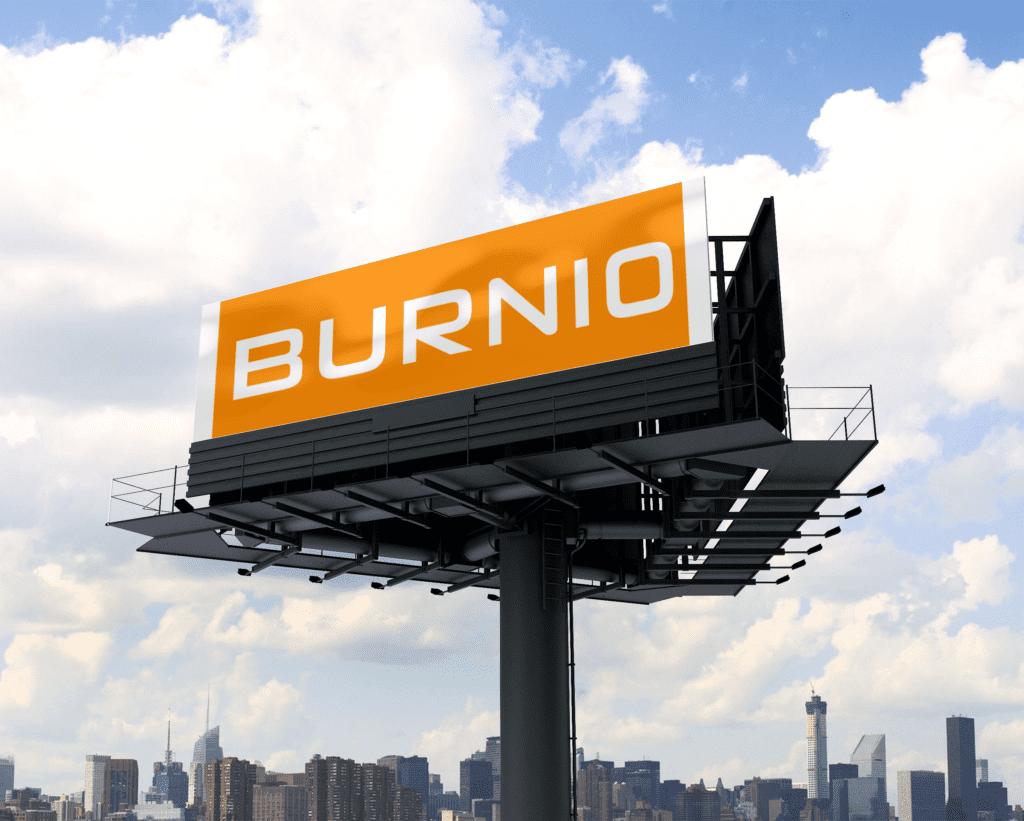 Hart van je merk visual Burnio marketing en communicatie op billboard